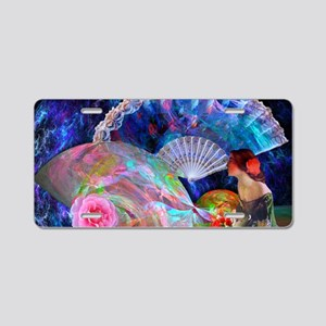 Fans and Roses Aluminum License Plate