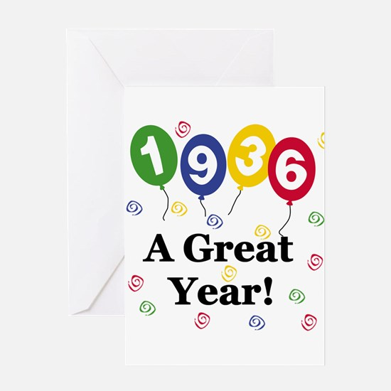 1936 A Great Year Greeting Card