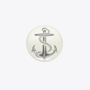 awesome vintage anchor Mini Button