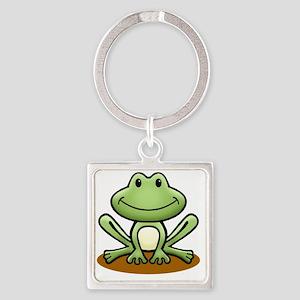GreenFrog Square Keychain
