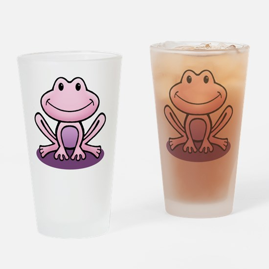 Pink Frog Drinking Glass