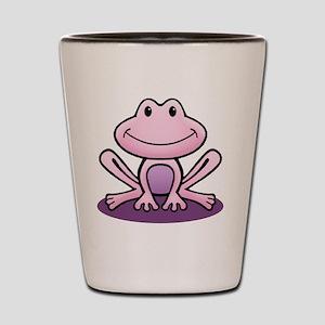 Pink Frog Shot Glass