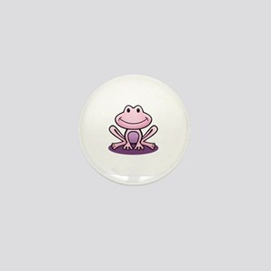 Pink Frog Mini Button