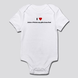 I Love Julio & Nelcie my gift Infant Bodysuit