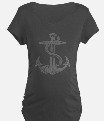 awesome vintage anchor Maternity T-Shirt