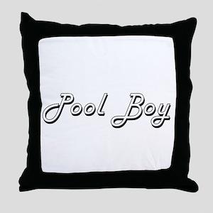 Pool Boy Classic Job Design Throw Pillow