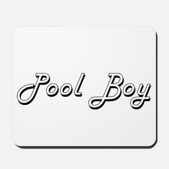 Pool Boy Classic Job Design Mousepad