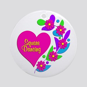 Square Dancing Heart Ornament (Round)