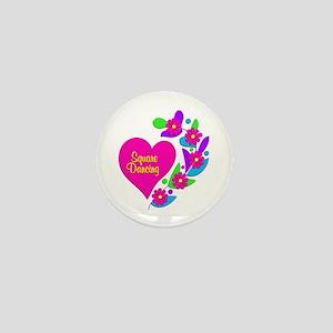 Square Dancing Heart Mini Button