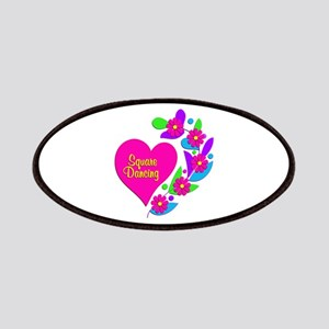 Square Dancing Heart Patch