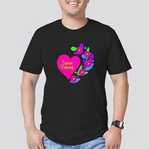 Square Dancing Heart Men's Fitted T-Shirt (dark)