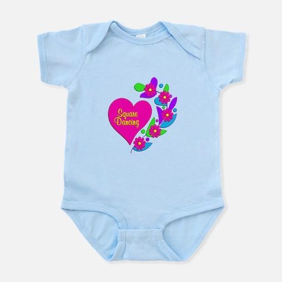 Square Dancing Heart Infant Bodysuit