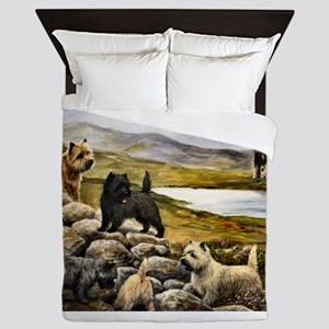 Cairn Terrier Queen Duvet