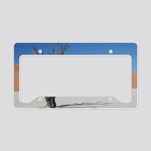 Young desert elephant Namibia License Plate Holder
