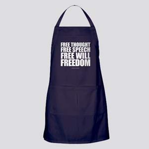 Thought, Speech,Will,Freedom Apron (dark)