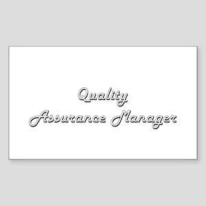 Quality Assurance Manager Classic Job Desi Sticker
