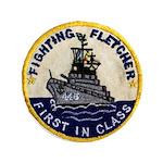 USS FLETCHER Button