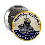 """USS FLETCHER 2.25"""" Button"""