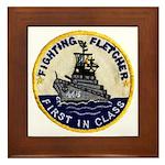 USS FLETCHER Framed Tile