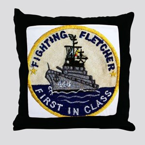 USS FLETCHER Throw Pillow
