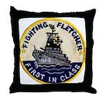 USS FLETCHER Throw Pillow