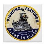 USS FLETCHER Tile Coaster