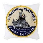 USS FLETCHER Woven Throw Pillow