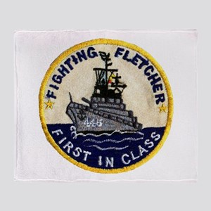USS FLETCHER Throw Blanket