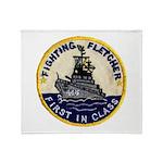 USS FLETCHER Throw Blanket