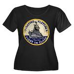 USS FLET Women's Plus Size Scoop Neck Dark T-Shirt