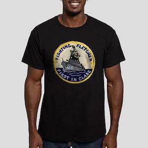 USS FLETCHER Men's Fitted T-Shirt (dark)