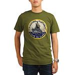 USS FLETCHER Organic Men's T-Shirt (dark)