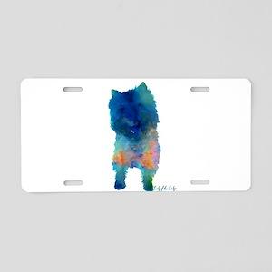 Groovy Cairn Terrier Aluminum License Plate