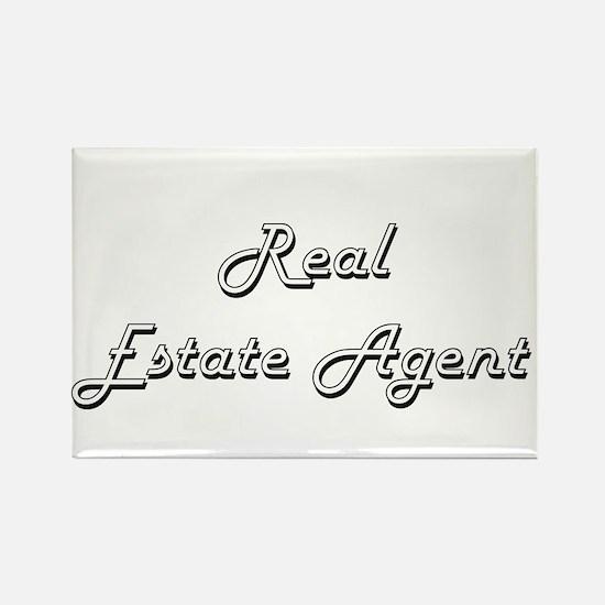 Real Estate Agent Classic Job Design Magnets