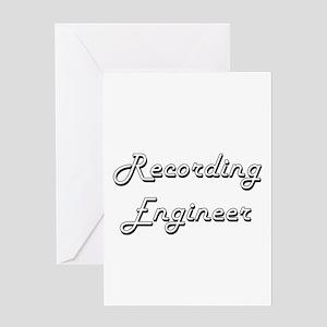 Recording Engineer Classic Job Desi Greeting Cards