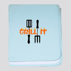 GRILL IT baby blanket