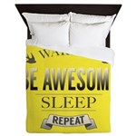 Be Awesome. Repeat Queen Duvet