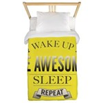 Be Awesome. Repeat Twin Duvet