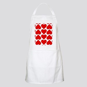 Red Hearts Pattern Apron