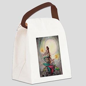 Gemini Mermaids Fantasy Art Canvas Lunch Bag