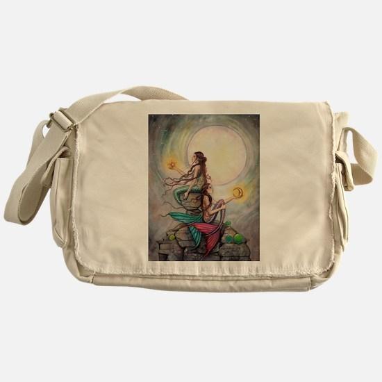 Gemini Mermaids Fantasy Art Messenger Bag