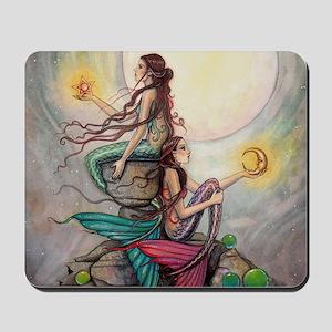 Gemini Mermaids Fantasy Art Mousepad