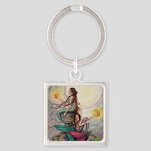 Gemini Mermaids Fantasy Art Keychains