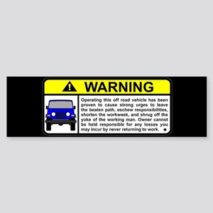 Offroad Vehicle Warning Visor Bumper Sticker