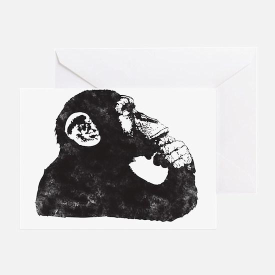 Thoughtful Monkey  Greeting Card