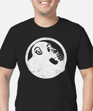Thoughtful Monkey 2 -  Men's Fitted T-Shirt (dark)