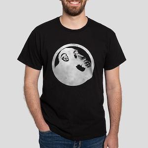Thoughtful Monkey 2 - White Dark T-Shirt