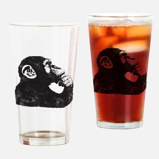 Thoughtful Monkey  Drinking Glass