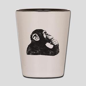 Thoughtful Monkey  Shot Glass