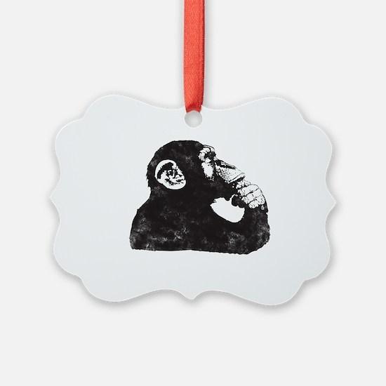 Thoughtful Monkey  Ornament